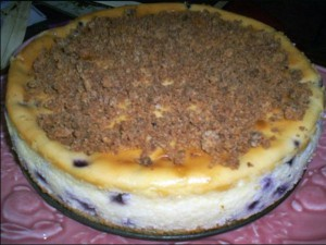 Blueberry Crumb Cheesecake